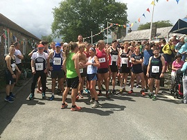 Almost ready for the start of the Burrator Horseshoe Run at Meavy Oak Fair