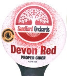 Sandford Orchards Devon Red available at the Royal Oak Inn