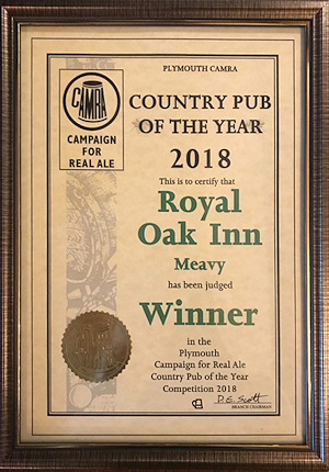 Country Pub of 2018 Certificate