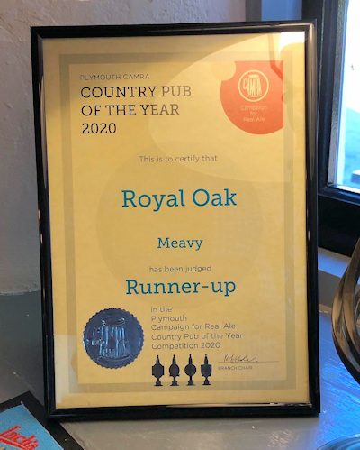 Runner-Up Country Pub of the Year 2020