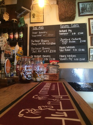 Beer and Cider blackboard